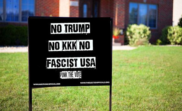 No Trump Yard Sign