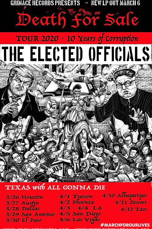 The Elected Officials Death for Sale COVID tour poster