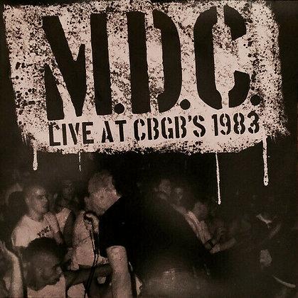 MDC – Live At CBGB's 1983 LP
