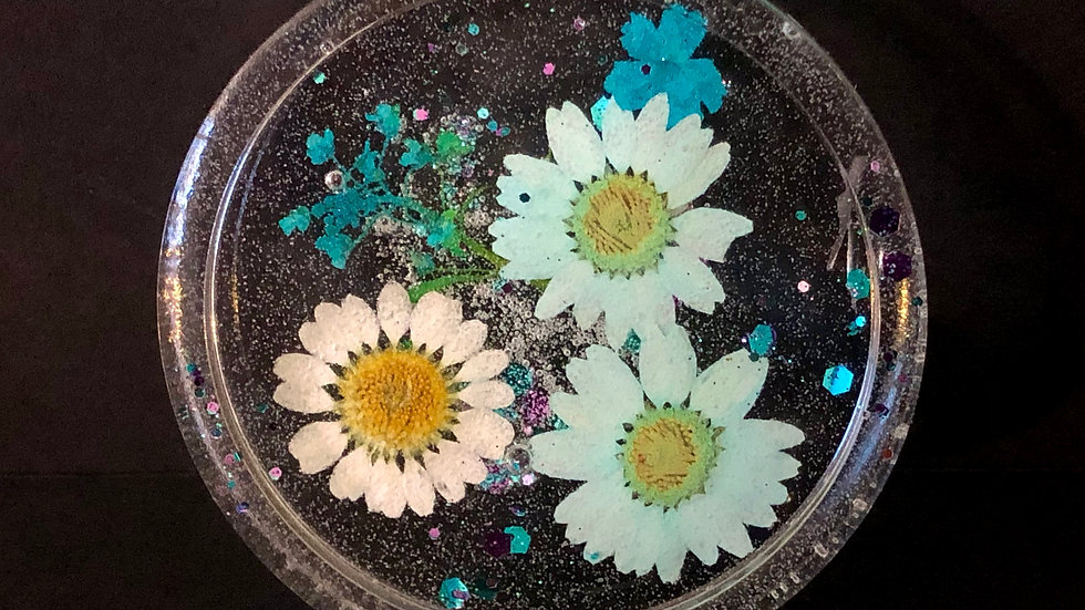 Round Resin Coaster or Window Sun Catcher By Nova