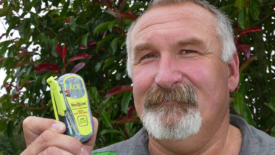 Southland Locator Beacon Charitable Trust chair John Munro holding a Personal Locator Beacon, which have become popular with 400 rescues in the last 22 years.
