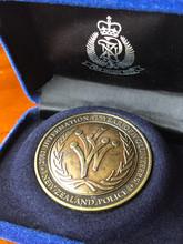 NZ Police International Year of the Volunteer bronze medallion
