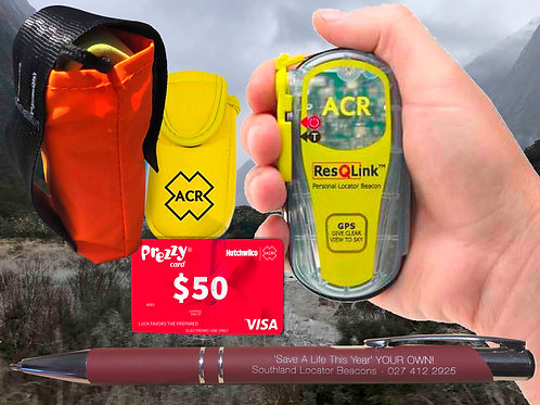 ACR ResQLink 406 MHZ GPS PLB-375 plus free pouch and pen
