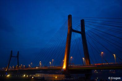 pont de bourgogne point de vue port nord a chalon sur saone