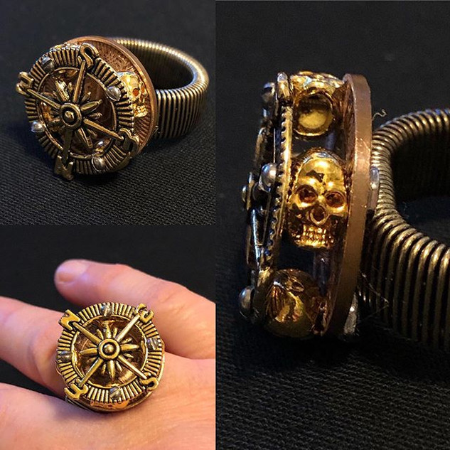 Skull & Compass Ring - see previous post