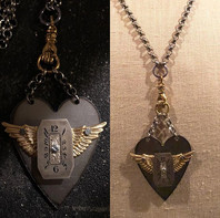 Latest pendants with vintage watch piece