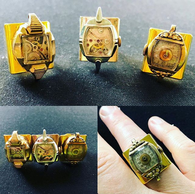 Art Deco Rings. #artdecojewelry #upcycle