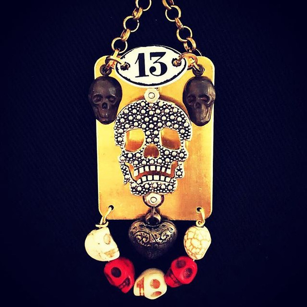 Dare to Wear_ Lucky #13 necklace created