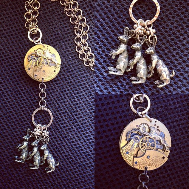 Rabbit Friday!  Necklace made with engra