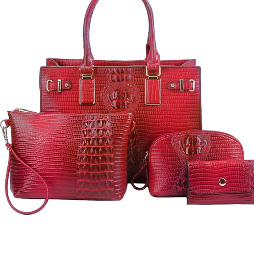 JUST RED 4 PC SET