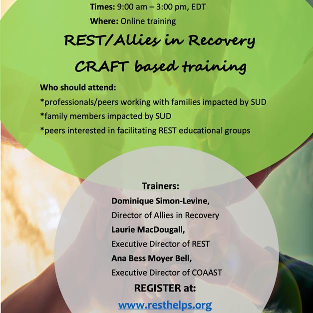 REST/Allies training March 25, 26, 31, April 1, 2021