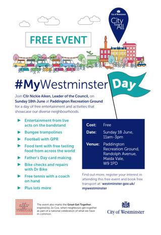 #MyWestminster day, a free community event for all
