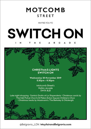 20 November - Motcomb Street Christmas Lights