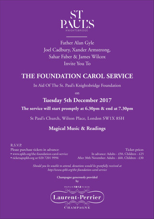 The St. Paul's Knightsbridge 2017 Foundation Carol Service