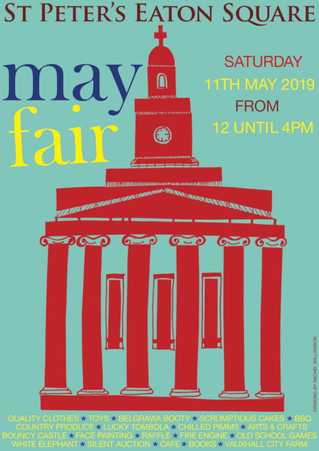 St Peter's Eaton Sq May Fair - 11th May from 12pm