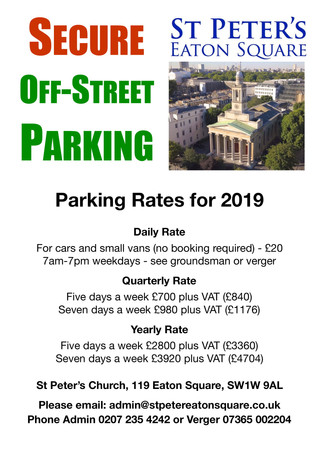 Secure off-street parking in Belgravia!