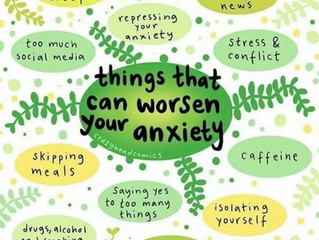 Things that can worsen your anxiety