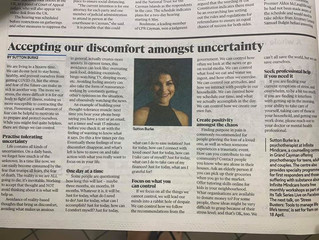 Accepting our discomfort amongst uncertainty - Newspaper feature