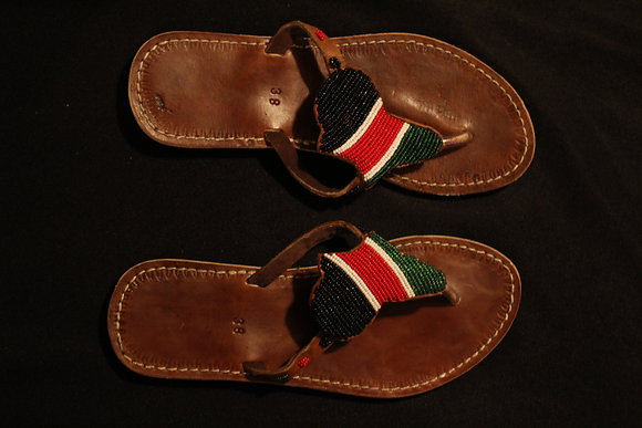 Beaded African Sandals
