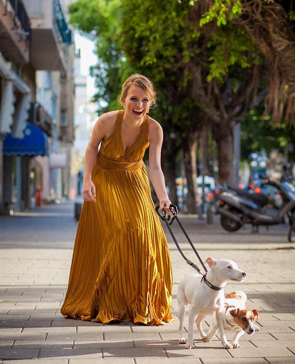 ולנטינה שמלות ערב - שמלת ערב ממשי נשפך גב חשוף