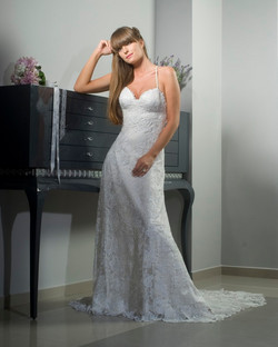 Valentina Wedding dress Peony corset A skirt lace open back back - ולנטינה שמלת