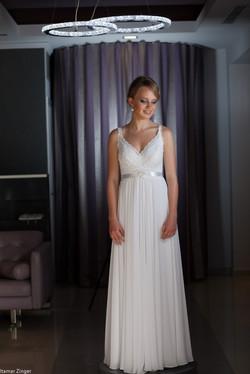 שמלות כלה ולנטינה תחרה שיפון גב חשוף נשפכת weddidng dresses valentina lace chiff