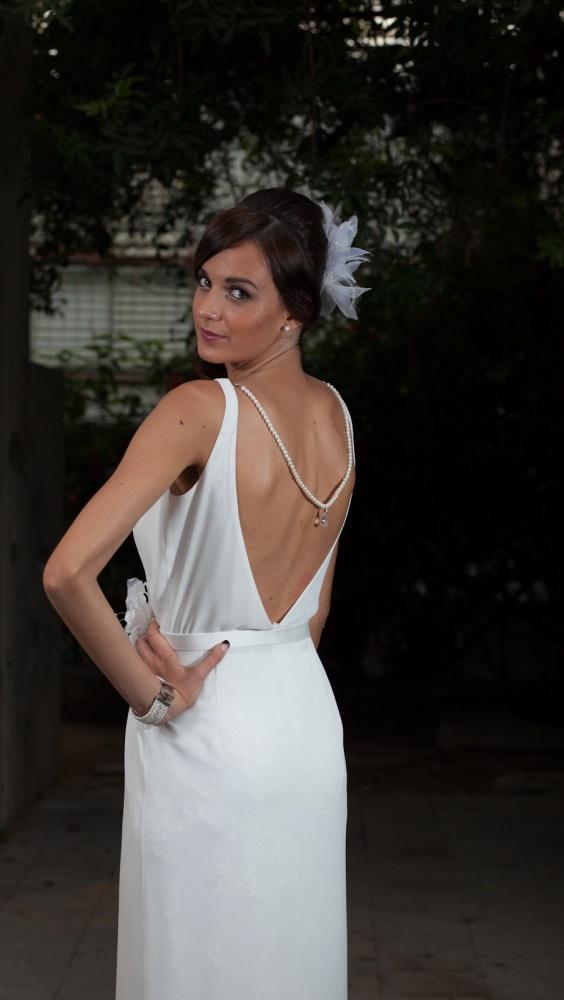 שמלות כלה ולנטינה שיפון גב חשוף נשפכת weddidng dresses valentina chiffon open ba