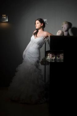 Valentina Wedding Dress Melissa corset silk Tulle skirt layerd embroidered flowe