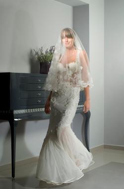 Valentina Wedding dress Lilac Leotard  Mermaid lace open back  - ולנטינה שמלת כל
