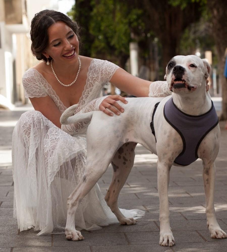שמלות כלה ולנטינה תחרה וינטאג' פסיפלורה wedding dress valentina vintage lace fro