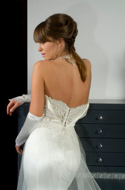 Valentina Wedding dress Mimosa Leotard lycra armani Mermaid lace open back tulle