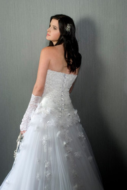 Valentina Wedding Dress Narcissus corset silk Tulle skirt embroidered flowers -