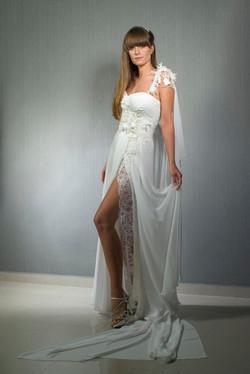 Valentina Wedding dress Glorioza corset chiffon lace underskirt - ולנטינה שמלת כ