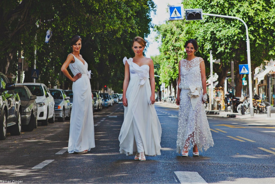 Valentina trio wedding dresses lace chiffon volans שמלות כלה ולנטינה שיפון תחרה