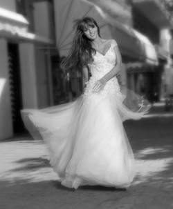 Valentina wedding dress Jasmin - Embroidered lace with ball gown Tulle 1 -ולנטינ
