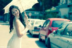 שמלות כלה - ולנטינה - תחרה - וינטאג' - פסיפלורה ורודה - wedding dress valentina