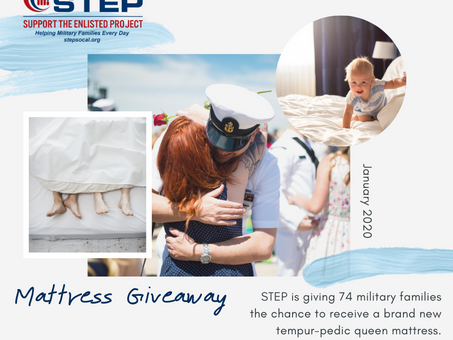 Application Open: STEP Mattress Giveaway for Military & Veterans in Southern California!