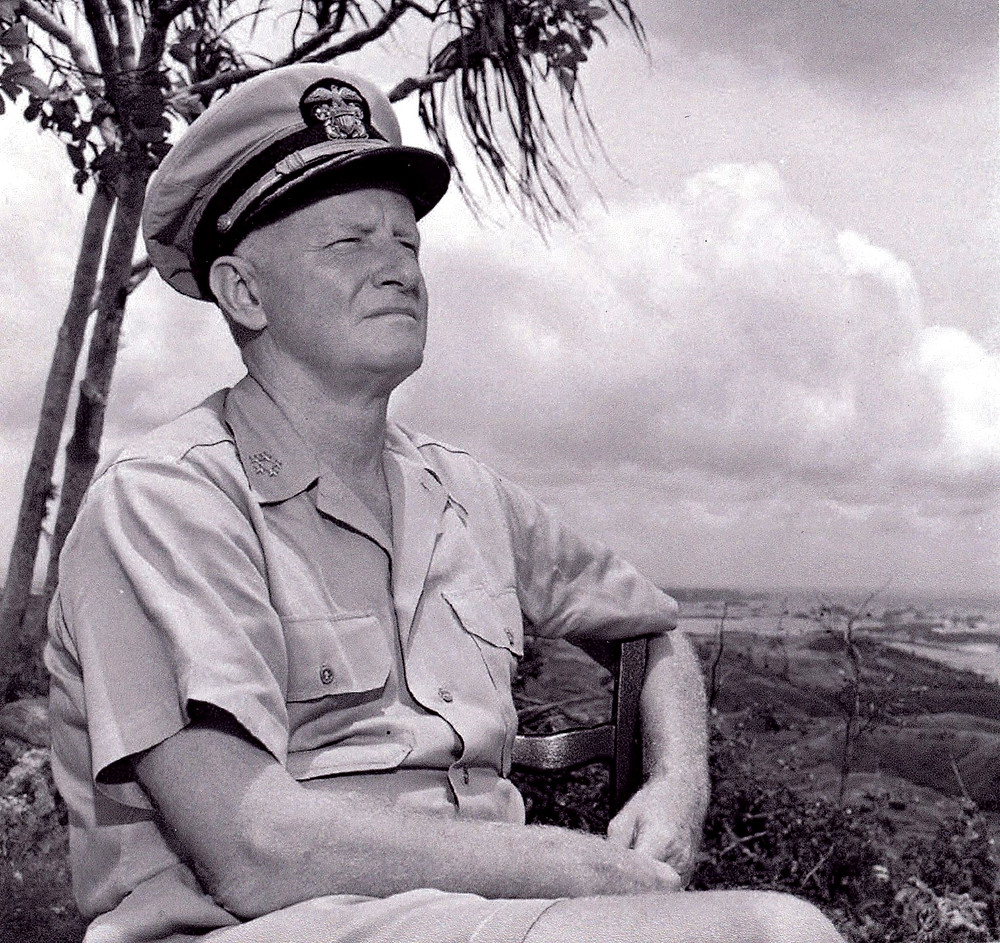 Admiral Chester W. Nimitz on Guam
