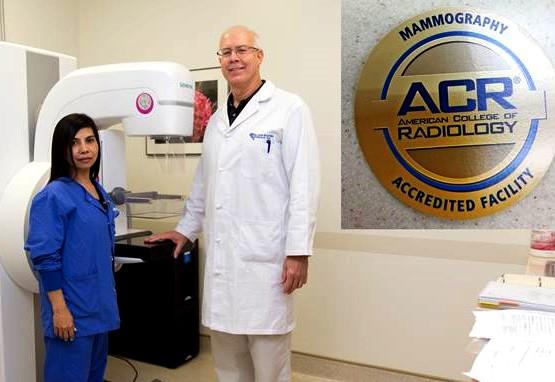 GRMC Mammography Technologist Sarah Alejandro (L) and GRMC Diagnostic Radiologist Dr. Eric Spak