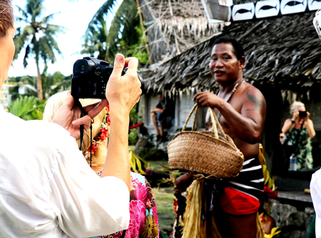 German travelers visit Yap on round-the-world private jet tour