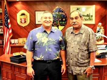 Guam Gov. Calvo, FSM President Christian meet on FSMers in Guam