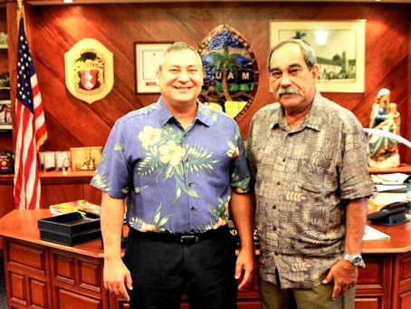 Guam Gov. Calvo, FSM President Christian meet on FSMers in Guam