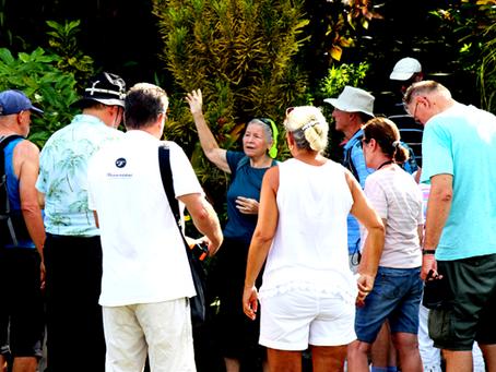 German tourists walk an 'exotic paradise' aka Yap