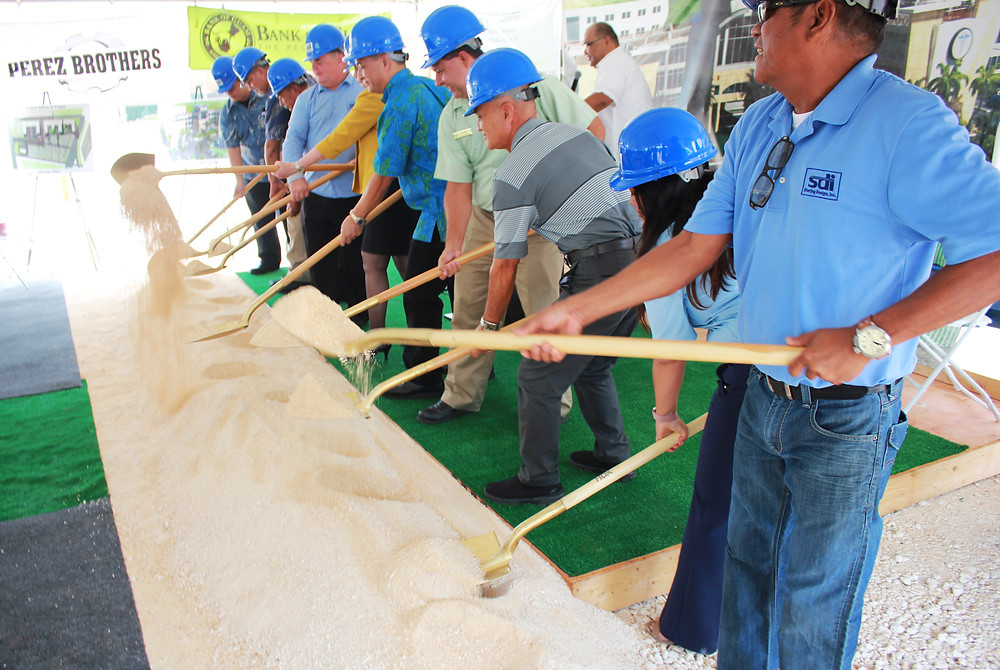 Developers break ground on Medical Arts Center project in Dededo. Photo courtesy of Kevin Kerrigan