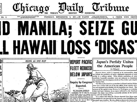 77 years ago, Pearl Harbor, Guam attacked