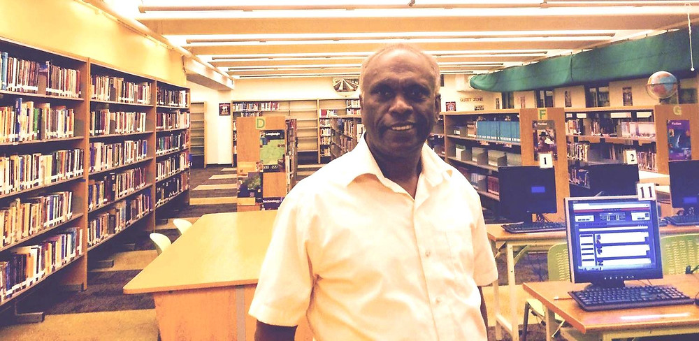 said Krishnan Seerengan is a librarian at John F. Kennedy High School