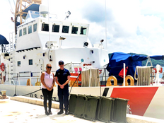 Palau gets Navy, Coastie cots for emergency victim shelter