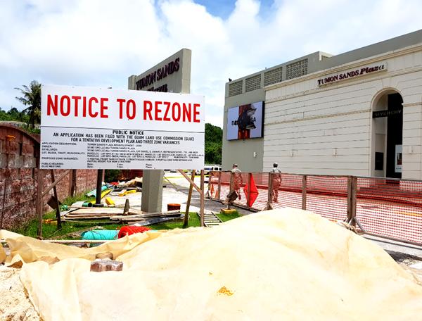 Tumon Sands Plaza construction