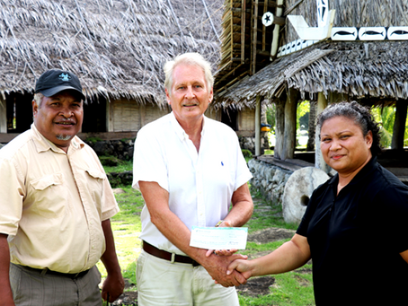 Bank of Guam employees donate to Yap cultural museum
