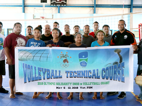 Volleyball expertise comes to Yap